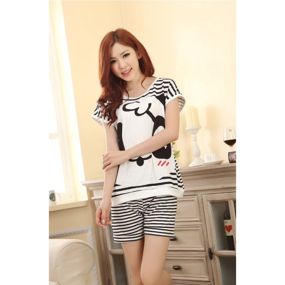 SL91344 - Stylish Stripe Pyjamas (1 Set)