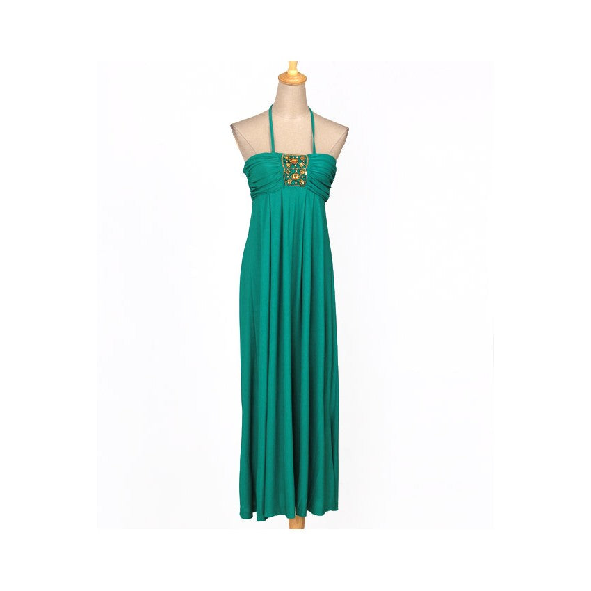 SD217862 - European Halter Neck Maxi Dress