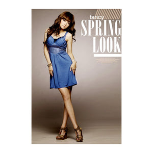 SD26951 - Korea Fashion V Neck Sequin Dinner Dress