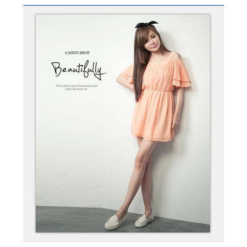 SD77163 - Korea Stylish Chiffon Dress