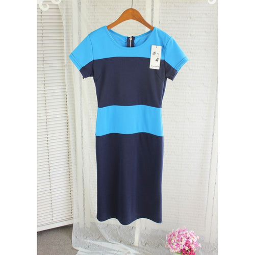 SD79333 - Fashion Two Tone Dress
