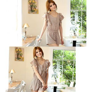 SP96056 - Korea Fashion Lotus Sleeve Jumpsuit