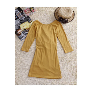 SD27676 - Korea Fashion V Neck Dress
