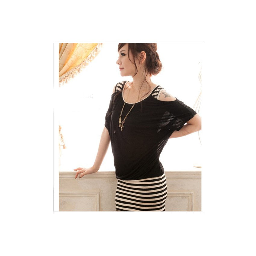 SD210959 - Stylish Stripe Dress