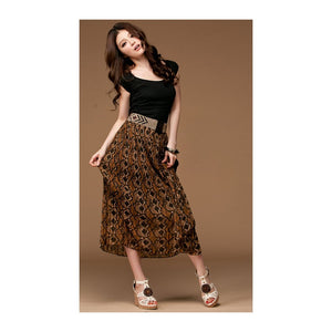 SK210983 - Stylish Floral Skirt