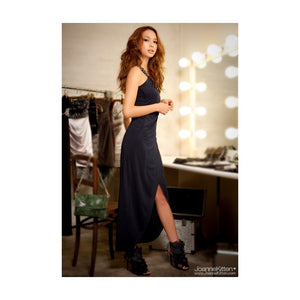 SD9120 - JK Oblique Maxi Dinner Dress