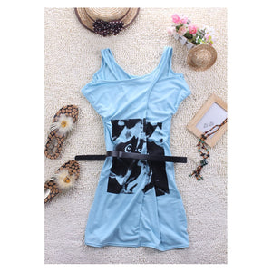 SD210838 - Stylish Dress (With Belt)