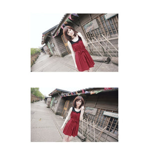 SD211306 - Korea Stylish Two Tone Dress