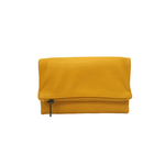 Women Leather Wallet in Yellow - Nymphaea design