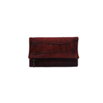 Women Leather Wallet in Red - Nymphaea design