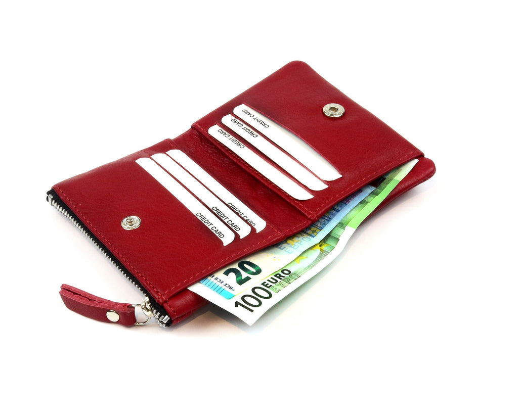 Mini Red Wallet - Nymphaea design