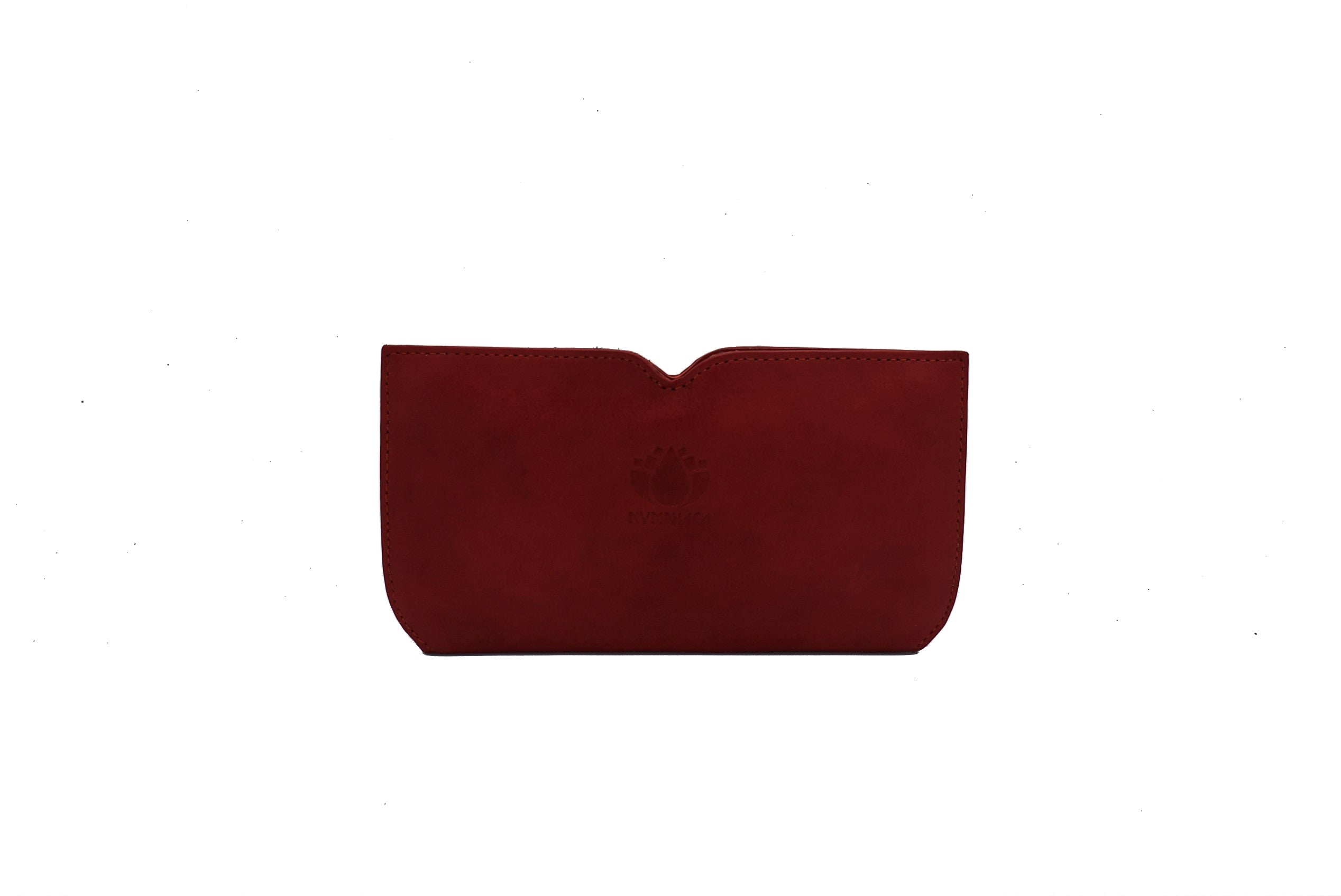 Red Butterfly Leather Wallet - Nymphaea design