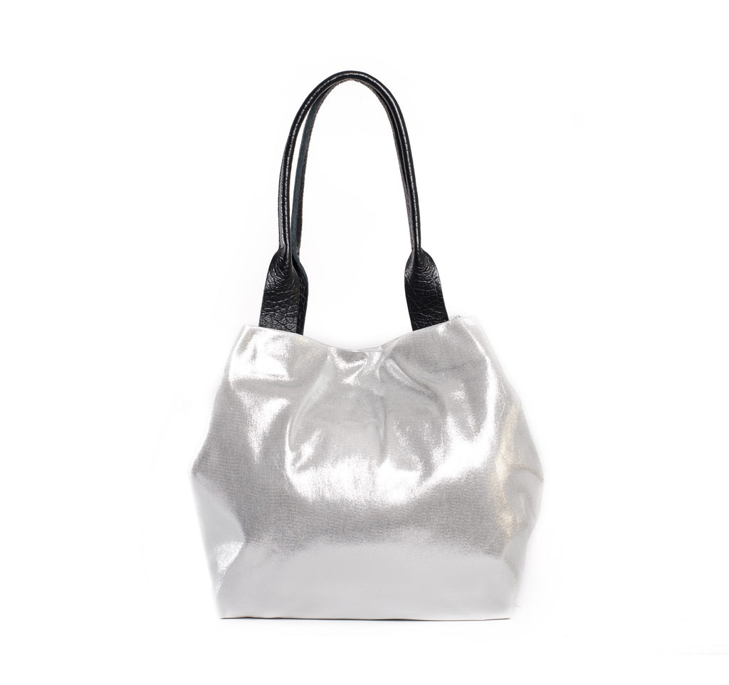 Basket Silver Bag - Nymphaea design