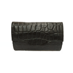 Croco Leather Fanny Pack - Nymphaea design