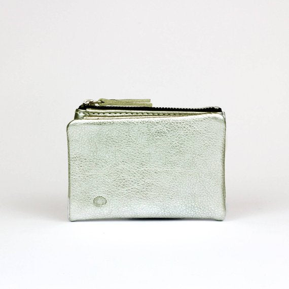Mini Silver Wallet - Nymphaea design