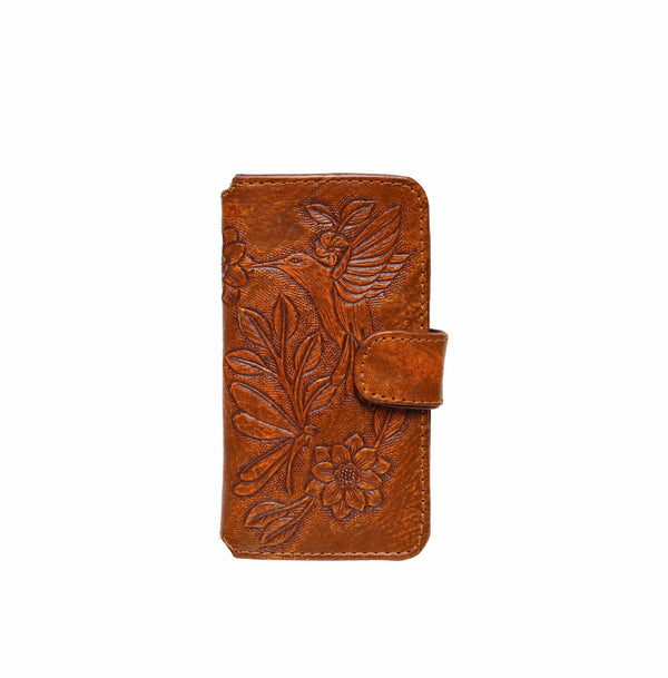 Queen Hummingbird Phone Cover - Antique Brown