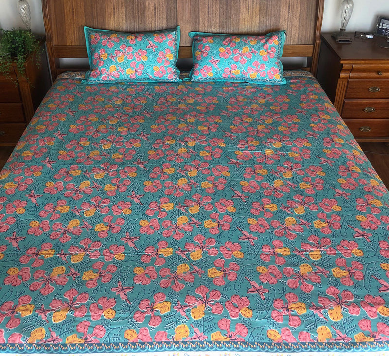 Wildflower Bedding - Turquoise Hibiscus