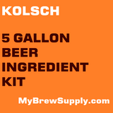 Kolsch 5 Gallon Premium Extract Beer Ingredient Kit