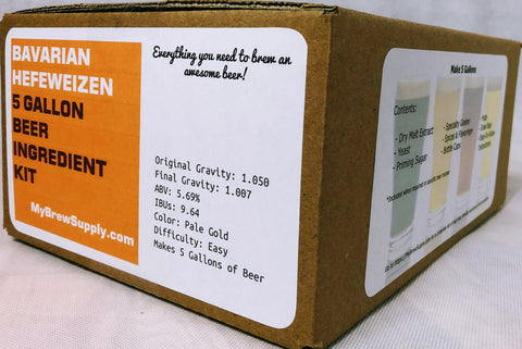 Bavarian Hefeweizen 5 Gallon Premium Extract Beer Ingredient Kit