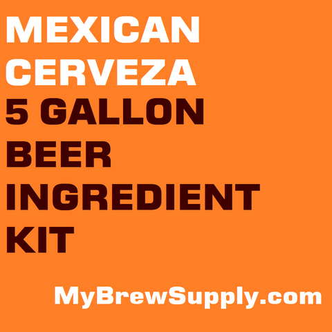 MBS Mexican Cerveza 5 Gallon Premium Extract Beer Ingredient Kit
