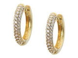 Small 18k Gold Plated Silver Dazzling Stud Curved