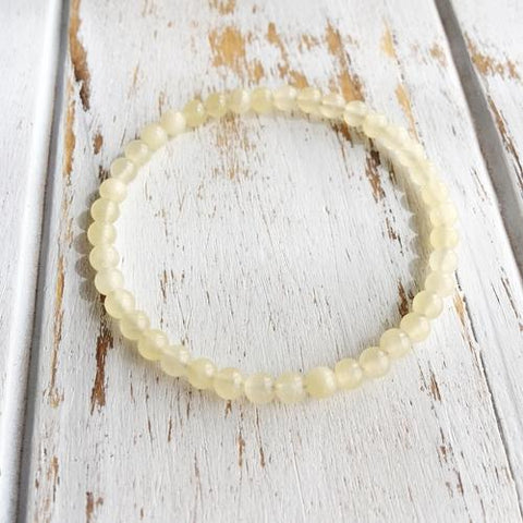 8mm Yellow Calcite Bracelet