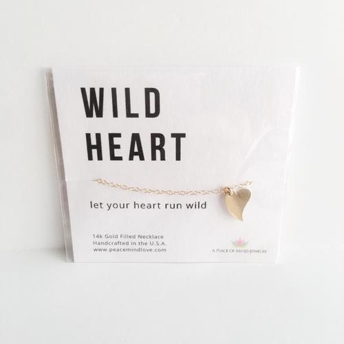Wild Heart - Handmade 14k Gold Filled Necklace