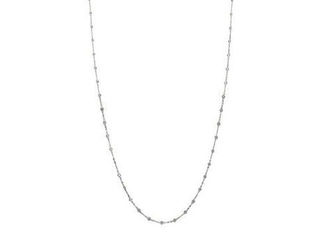 925 Sterling Silver CZ by the Yard Necklace,