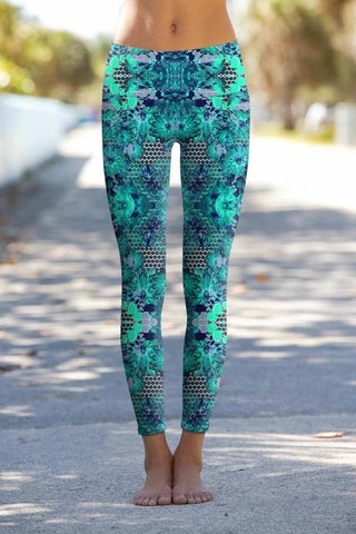 Awakening Lucy Printed Performance Yoga Leggings -