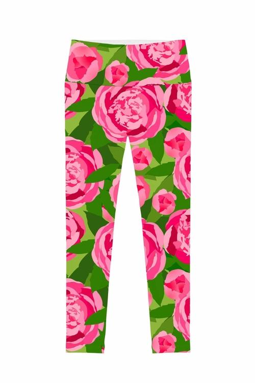Pink Vibes Lucy Floral Print Performance Leggings