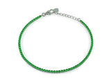 Mini Ambition Green CZ Tennis Bracelet  Sterling