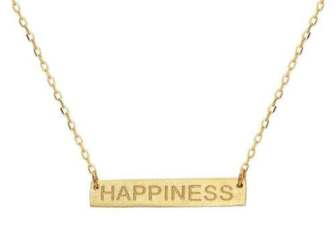 Golden Happiness Bar Necklace