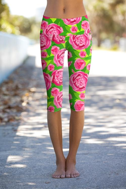 Pink Vibes Ellie Performance Capri Leggings Summer