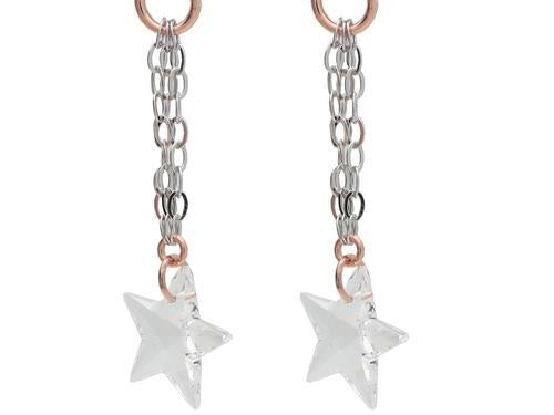 Swarovski Crystal Star Earrings