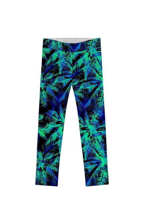 Electric Jungle Lucy Cute Navy Green Printed