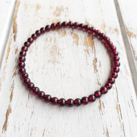 4mm Garnet Bracelet ~ Power & Money