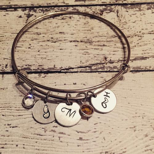 Mother's jewelry - Couples Initials- Name bracelet