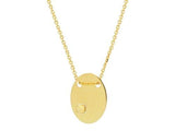 Rolling Golden Oval Necklace