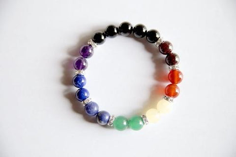 All 7 Chakras Bracelet ~ Genuine Gemstones