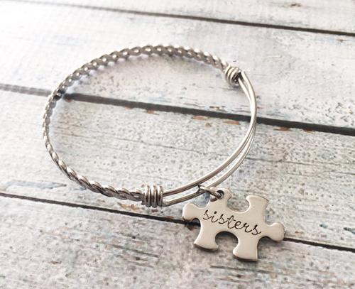 Puzzle jewelry - Puzzle bracelet - Stainless steel