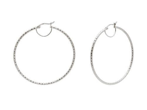 Fronay Co .925 Sterling Silver Miami Hoops