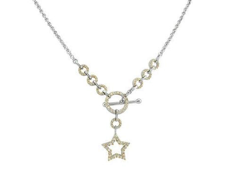 Iced Out Circles and Stars Rolo Necklace