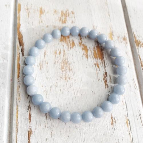 6mm Angelite Bracelet