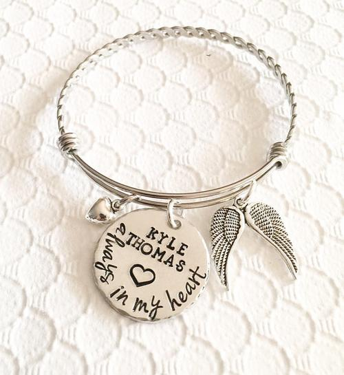 Memorial bracelet - Remembrance jewelry - Loss of