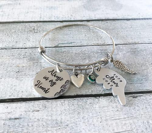 Memorial bracelet - Remembrance jewelry - Loss
