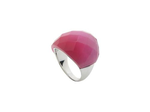 Pink Cat Eye Statement Ring | Sterling Silver by