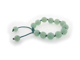 Genuine Natural Green Aventurine Macrame Shamballa