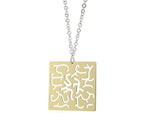 "Sterling Silver Two Tone Pendant Necklace  18""+1"""