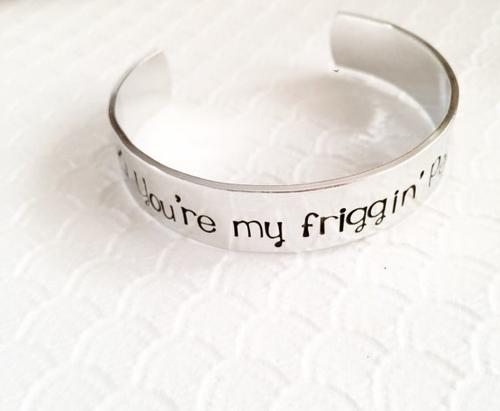 You're my person - Hand Stamped cuff bracelet -