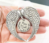 Angel wings - Hand stamped ornament - Chritmas
